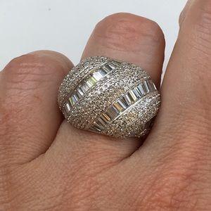 Jewelry - 14k white gold lab diamond statement ring band